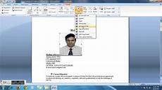 Pictures On Resume How To Insert My Picture Into My Resume Cv Youtube
