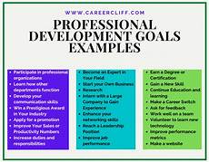 professional development goals examples in 2020