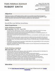 Public Relations Assistant Resume Public Relations Assistant Resume Samples Qwikresume