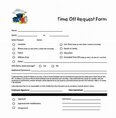 Paid Time Off Forms Free 23 Sample Time Off Request Forms In Pdf Ms Word