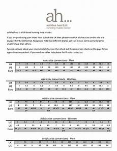 Bernardo Shoes Size Chart Running Shoe Size Conversion Chart