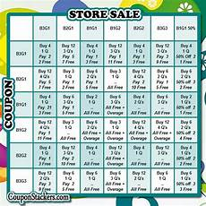 Coupon Chart Bogo Stackers Cheat Sheet Coupon Stackers