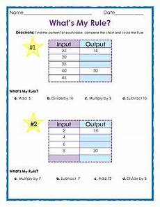 Patterns In T Charts Grade 4 Worksheets What S My Rule Input And Output Tables Math Patterns