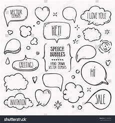 Collection Of Hand Drawn Greetings Words Collection Of Hand Drawn Think And Talk Speech Bubbles