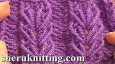 wheat ear loop stitch pattern tutorial 6 free knitting