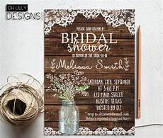 rustic bridal shower invitation printable baby s breath