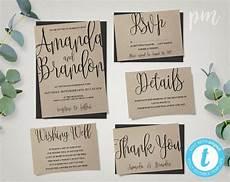 Free Diy Wedding Invitations Templates Wedding Invitation Template Suite Calligraphy Script