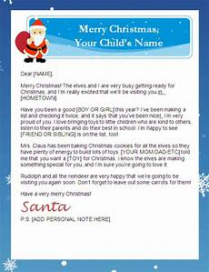 Merry Christmas Letter Sample Printable Santa Letter With Personalized Banner