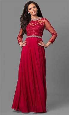cut out prom dress with sheer sleeves promgirl