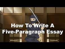 Essay On A Movie Writing Ninjas How To Write A Five Paragraph Essay Youtube
