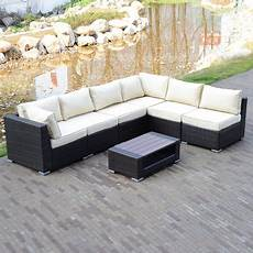 Brown Wicker Sofa 3d Image by 7pcs Outdoor Patio Rattan Pe Wicker Sectional Furniture