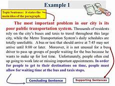 Examples Of Topic Sentences For An Essay Topic Sentence Grade 11 English