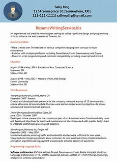 Web Design Resume Web Designer Resume Sample Resume Writing Service