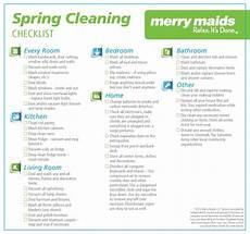 Merry House Cleaning Prices Merrymaids Put Together A Nice Spring Cleaning Checklist