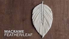 macrame feathers diy how to make a large macrame feather leaf