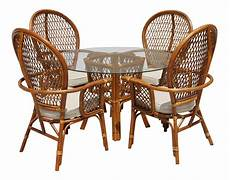 4 Rattan Sofa Set With Cushions Png Image by Rattan Dining Table With Glass Top And 4 Chairs Set Of 5