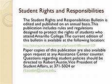 Student Rights And Responsibilities Student Rights And Responsibilities