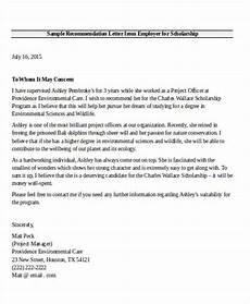 Letter Of Recommendation From Former Employer Free 7 Employer Recommendation Letter Samples In Ms Word