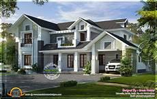 Western Homes Floor Plans Western Style House Rendering Home Kerala Plans