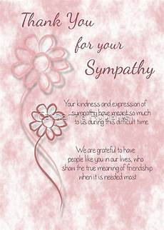 Condolences Thank Yous Quot Thank You For Your Sympathy Pink Sketched Flowers With