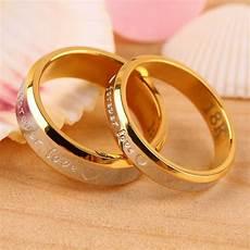 usa 2pcs 18k rose gold forever love couple engagement