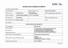Simple Business Plan Template Business Plan Template For Dmp Example