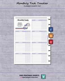 Personal Task Tracker Free Printable Monthly Task Tracker Planner Insert