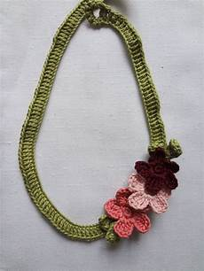 flowery necklace 183 how to make a fabric necklace 183 crochet