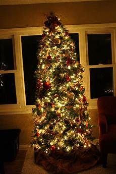 How To Wrap A Large Tree With Christmas Lights Saran Wrapped Christmas Tree 4 Little Fergusons