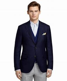 sporty coats brothers three button navy sport coat in blue for