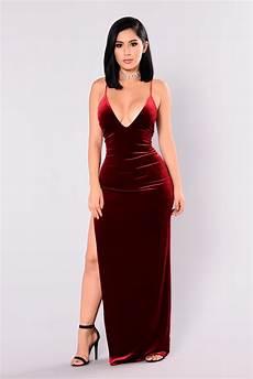 galant velvet dress burgundy