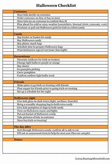 Best Way To Make A Checklist Halloween Checklist You Can T Miss Running A Household