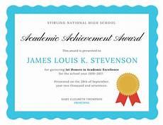 Academic Award Certificate Customize 979 Certificate Templates Online Canva