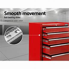 pro 5 drawers toolbox chest cabinet trolley boxes garage