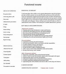 How To Build A Functional Resumes Free 5 Sample Functional Resume Templates In Pdf