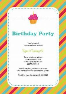 Make Printable Invitations Online Free Free Printable Birthday Party Invitation Templates