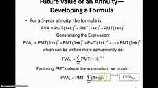 Future Value Of Future Value Of An Ordinary Annuity Youtube