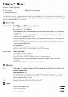 Resume For Forklift Operator Forklift Operator Resume Louiesportsmouth Com