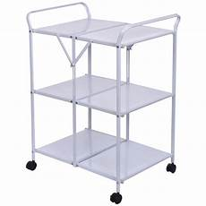 kitchen trolleys and islands 3 tiers folding steel kitchen trolley dining serving