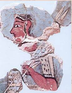 fresco fragment from tiryns dated lh iiib about 1300 bc