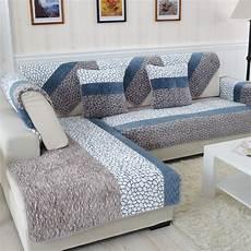 1 plush fabric sofa cover european style soft slip