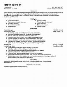 Spa Resume Sample Best Salon Manager Resume Example From Professional Resume