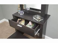 hobson espresso dressing table sliding mirror modern design