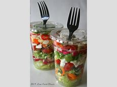 Chopped Salad in a Cup  great idea for a outdoor summer