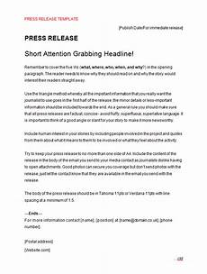 Press Releases Template Press Release Template Making Music