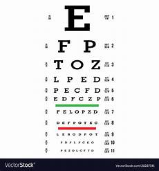 Eye Exam Reading Chart Eye Test Chart Letters Chart Vision Exam Vector Image