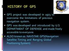 History Of Gps Global Positioning System Gps