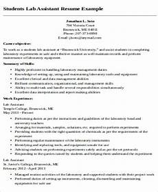 Sample Resume For Lab Assistant Free 9 Sample Teaching Assistant Resume Templates In Ms