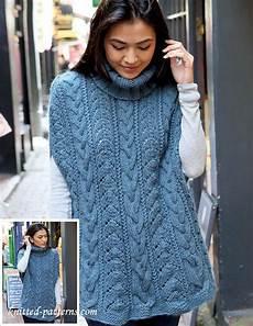 knitting poncho cabled poncho knitting pattern
