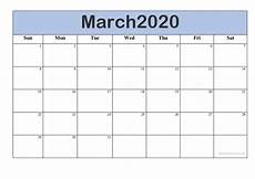 Printable Calendar 2020 2020 March 2020 Printable Calendar In Pdf Word Excel With Holidays